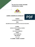 RESUMEN SECCIÓN 4 ESTADO DE SITUACIÓN FINANCIERA
