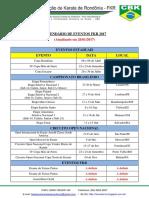Calendário FKR 2017 - Atualizado Em 28-01