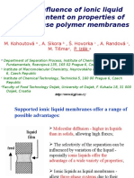 Influence of Ionic Liquid Content on Properties of Dense Polymer Membranes