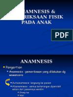 Anamnesis & Pemeriksaan Fisik Anak