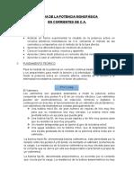 Medida de La Potencia Monofasica en Circuitos de C.a.