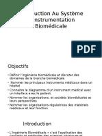 Introduction Au Système D'Instrumentation Biomédicale