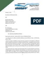 Read Oklahoma County Sheriff John Whetsel's retirement letter