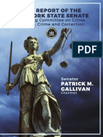 2016 Reprot Of The New York State Senate Standing Committee on Crime Victims, Crime and Correction