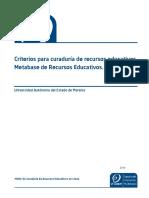 Criterios Curaduria Ligoteca MRE