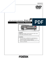 Fostex PD6 Manual