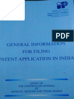 General Information for Filing Patent Application in India