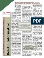 Boletín Informativo PSOE Cadalso Enero 2017
