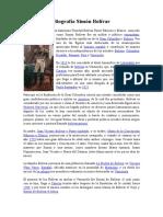 Biografía Simón Bolívar