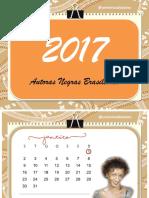 Calendário Autoras Negras Brasileiras 2017