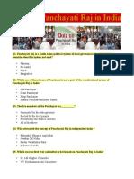 Quiz on Panchayati Raj