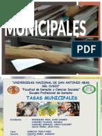TASAS MUNICIPALES