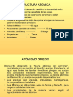 ESTRUCTURA ATÓMICA - DIAPOSITIVAS