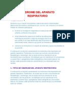 Sindrome Del Aparato Respiratorio