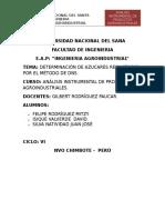 Determinacion de Azucares Reductores Por El Metodo Del DNS
