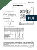 Hoja Tecnica IGBT MG75J2YS50