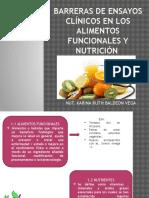 Barreras de Ensayos Clínicos en Los Alimentos Funcionales -EXPONER