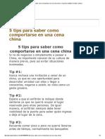 Comportamiento en Una Cena China – Kung Tse Instituto Oriental Confucio