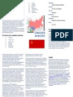 Desintegracion de La Unión de Soviética (Triptico)