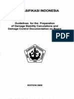 ( Vol 1 ),2005 Guidelines for the Preparation Damage Stability Calculation and Damage Control Docume...