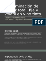 Determinación de Acidez Total, Fija y Volátil