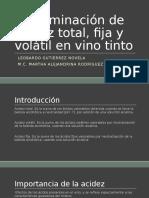 Determinación de Acidez Total, Fija y Volátil