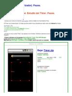 Tutorial Español en Android Timer Temporizador