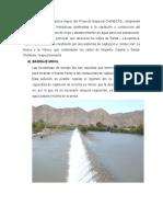 La Infraestructura Hidráulica Mayor Del Proyecto Especial CHINECAS