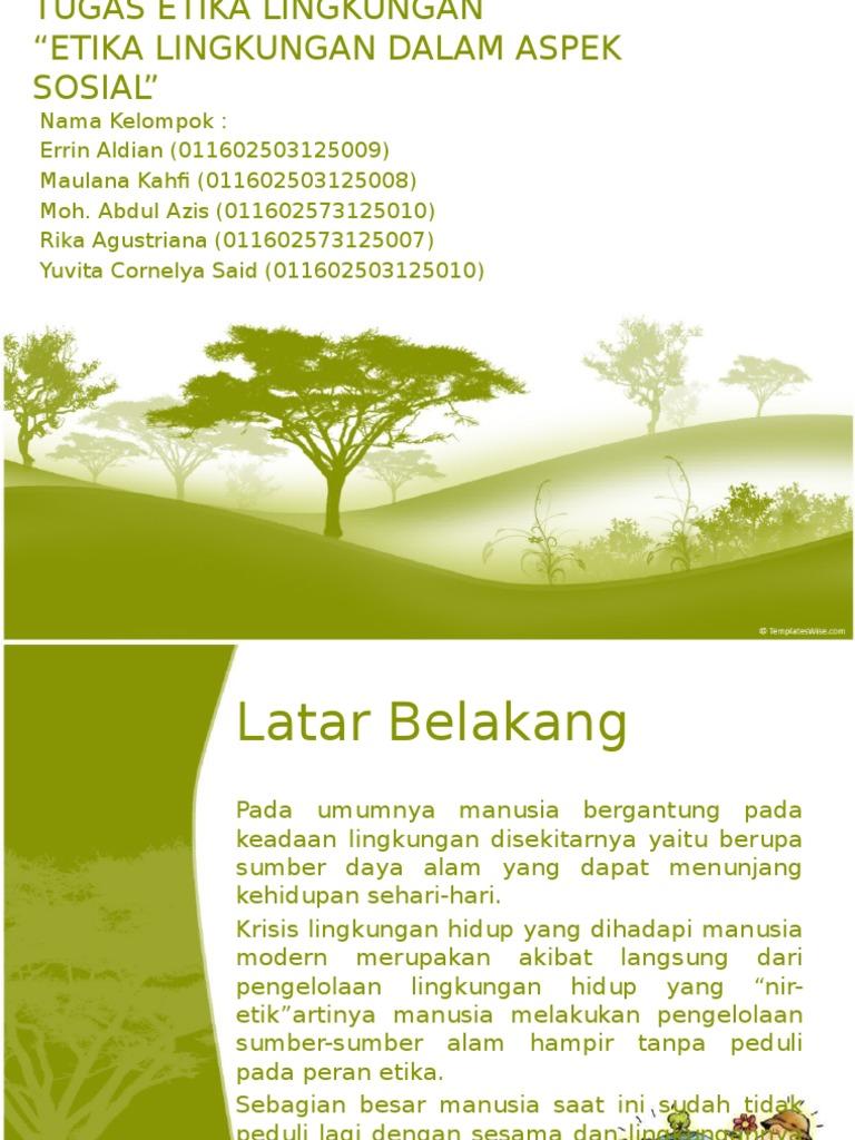 Etika Lingkungan Dalam Aspek Sosial
