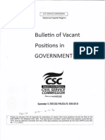 Bulletin of Vacant Position 2016