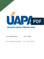 Marleny Plasencia 16-8737 - Metodologia de La Investigacion