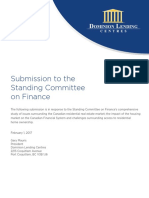 Submission to the Standing Committee on Finance