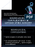 NEUROLOGICAL COMPLICATIONS IN LUMBAR SPINE SURGERY.pptx