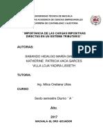 Importancias a Las Cargas Impositivas Directas en Un Sistema Tributario (1)