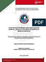 Tesis Comunicación Estratégica Para Organizaciones