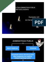 Lingkup Penelitian Administrasi Publik