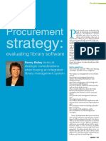 Procurement Strategy-evaluating Library Software as Published in CILIP Update (1)