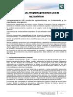 Lectura 26 - Programa Preventivo Uso de Agroquímicos