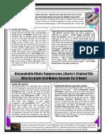Unspeakable Ethnic Suppression as Liberia's Original Sin
