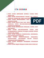 Dasa Tata Siswa