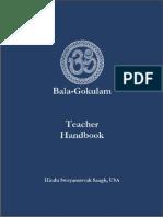 Hindu Swayamsevak Sangh, USA-Bala-Gokulam, Teacher Handbook