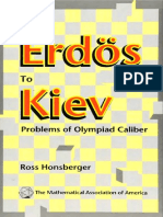 From Erdos to Kiev - Problems of Olympiad Caliber - Ross Honsberger