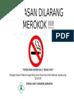 Banner Kawasan Dilarang Merokok