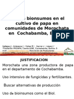 Uso de bionsumos en el cultivo de papa en comunidades de Morochata en  Cochabamba, Bolivia (Presentación PowerPoint)