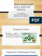 Current Monetary Policy of Pakistan and Its Issues