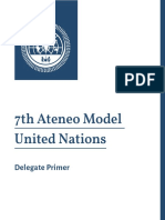 7th Ateneo Model United Nations Delegate Primer