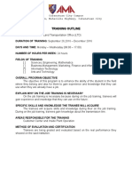 Training Outline Template