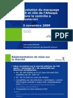 AFSSAPS - Evolution marquage CE et rôle de l'AFSSAPS - nov2009