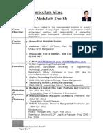 CV of Rifat 26 Nov 2014