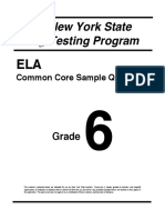 Ela Grade 6 Sample Questions